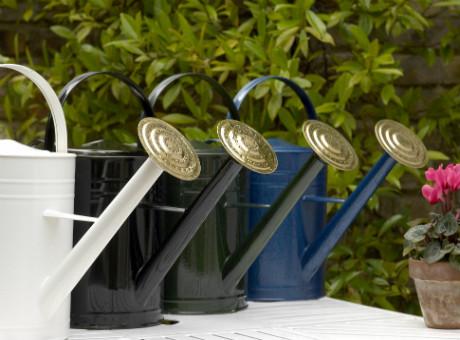 Hammerite wateringcans in 4 colours